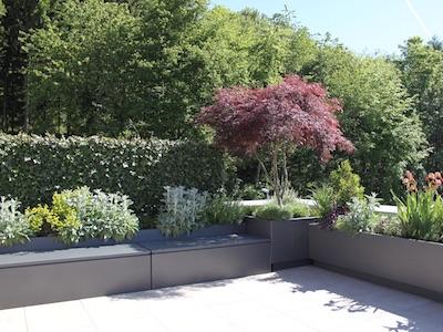 Terrasse gestaltet von Jenni und Partner AG